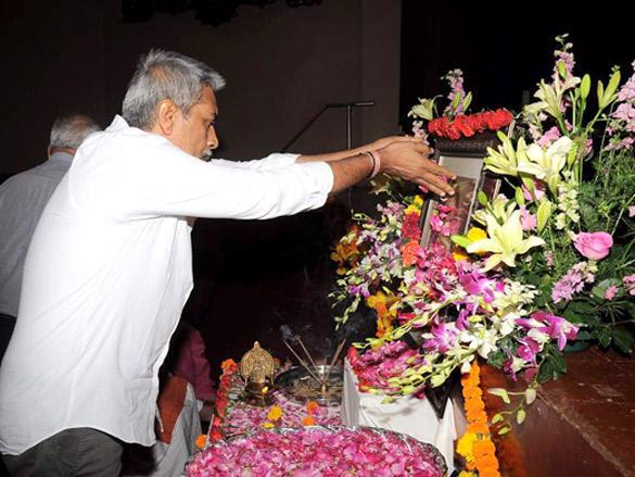 Prakash Jha at Kailash Kher's mother prayer meet