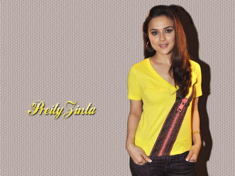 Preity Zinta Yellow Dress Wallpaper