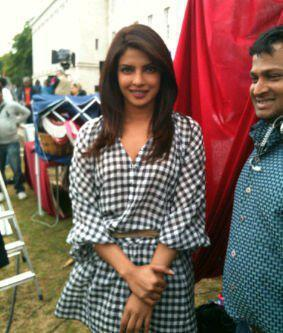 Priyanka Chopra at Teri Meri Kahani Movie Sets