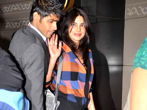 Priyanka Chopra Spotted at the Mumbai International Airport