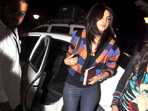 Priyanka Chopra snapped at the Mumbai International Airport