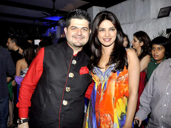 Priyanka Chopra with Daboo Ratnani at 2012 Calendar Launch