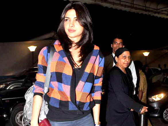 Priyanka at the Mumbai International Airport