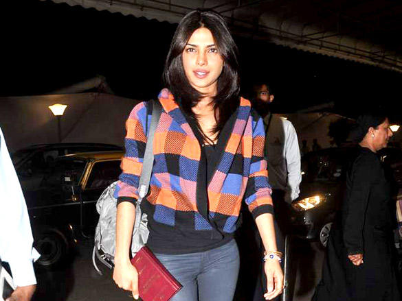 Priyanka snapped at the Mumbai International Airport