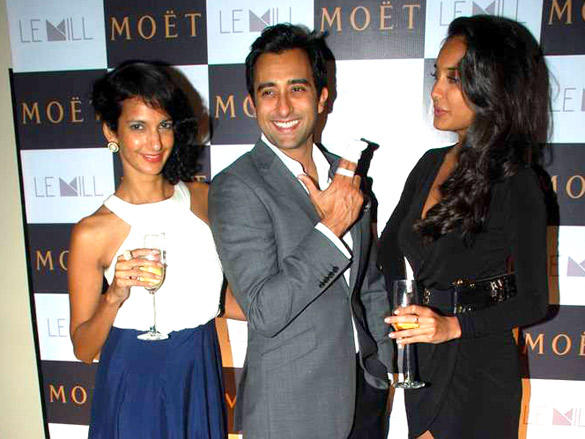 Rahul ,Poorna,Lisa at Moet and Chandon valentine evening