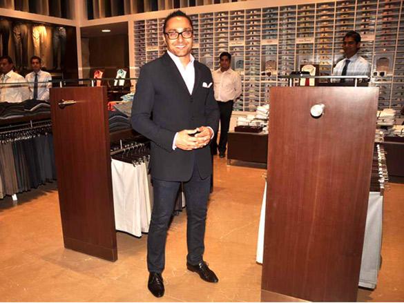Rahul Bose at Raymonds' new store
