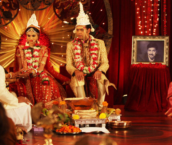 Rahul Mahajan and Dimpy Ganguly Wedding Photo
