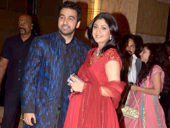 Raj Kundra with wife Shilpa Shetty at Honey Honey Bhagnani's sangeet ceremony