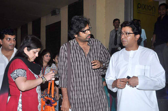 Raj Thackeray at Housefull 2 Screening