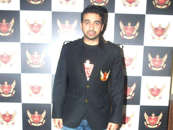 Raj Kundra at  Launch of Super Fight League in Novotel