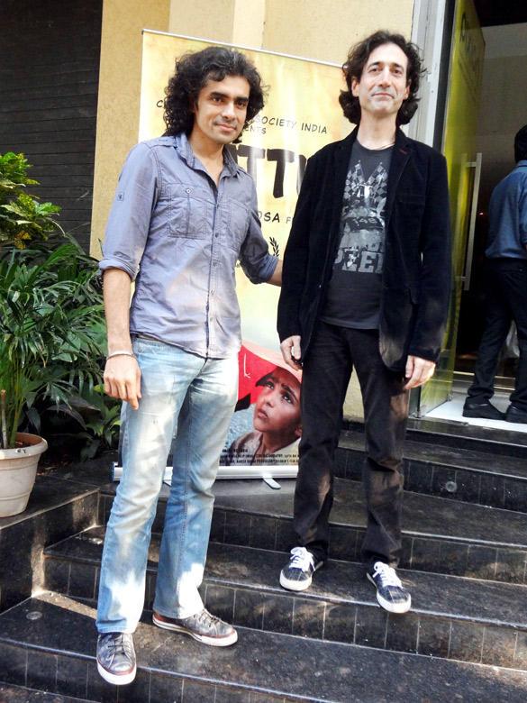 Rajan Khosa,Imtiaz Ali at Special Screening Of Gattu at Pixion