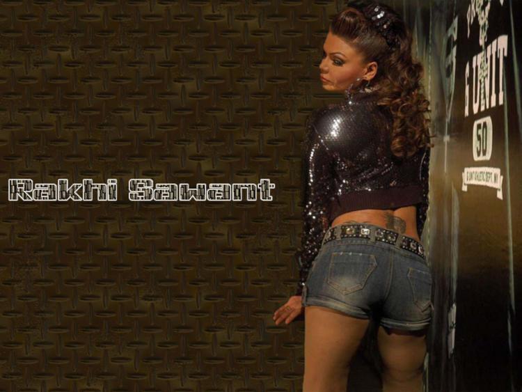 Rakhi Sawant Curly hair Style Wallpaper