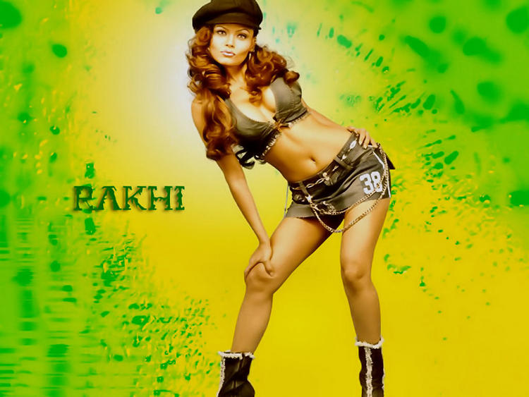 Rakhi Sawant Hot Sexy Belly Exposing Wallpaper