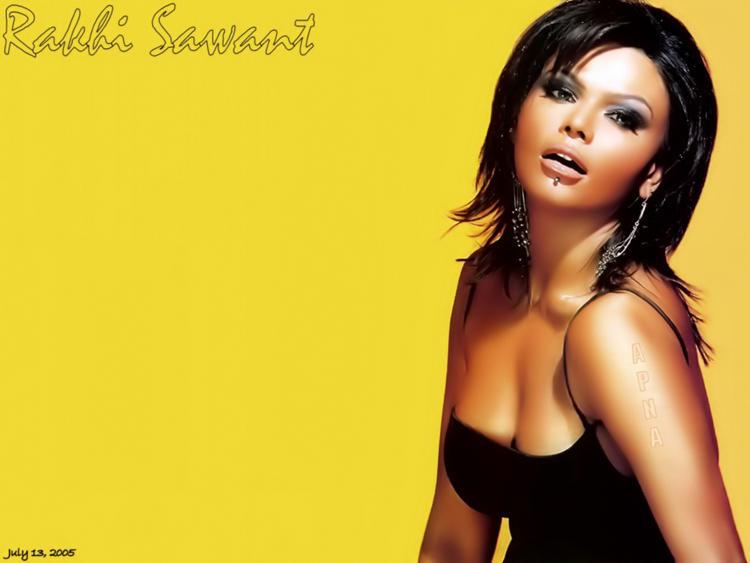 Rakhi Sawant Open Boob Show Sexiest Wallpaper