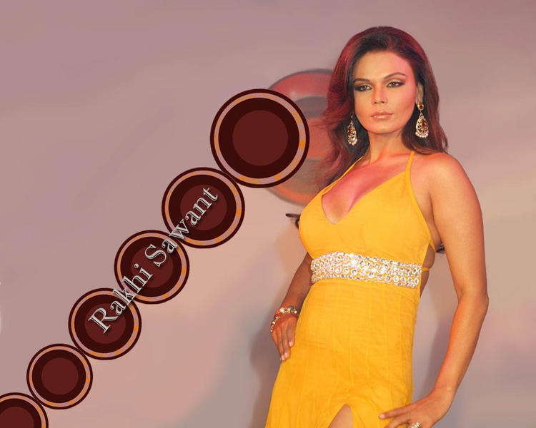 Rakhi Sawant Sexy Bikini Dress Wallpaper