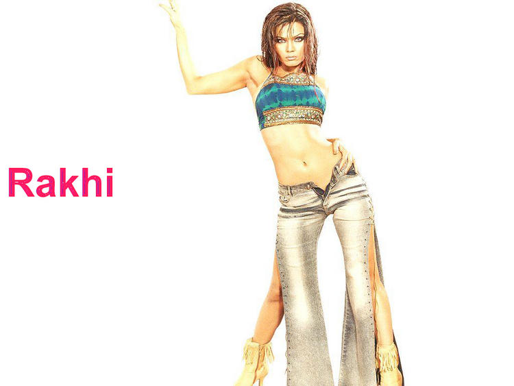 Rakhi Sawant Sexy Navel Expose Wallpaper