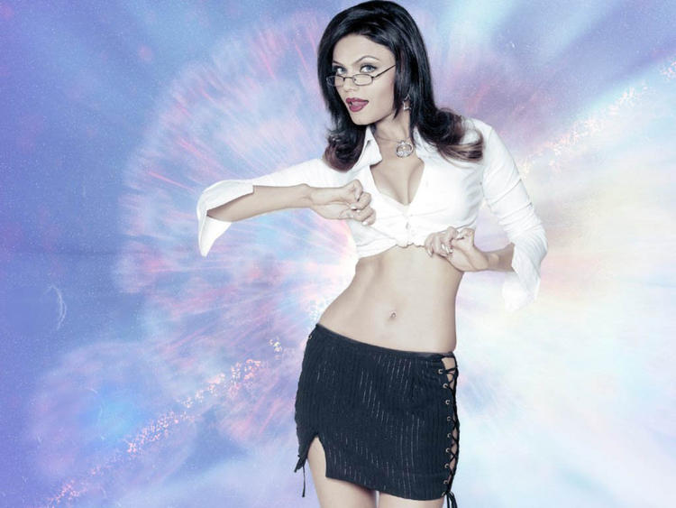 Rakhi Sawant Spicy Belly Exposing Wallpaper