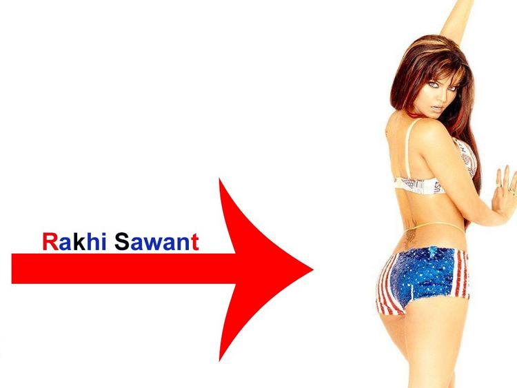 Rakhi Sawant Two Piece Dress Spicy Wallpaper