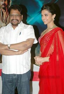 Rana Movie Launch K S Ravikumar and Deepika Padukone Still