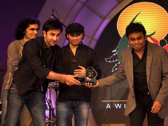 Ranbir Kapoor,AR Rahman During FICCI Frames 2012 Awards