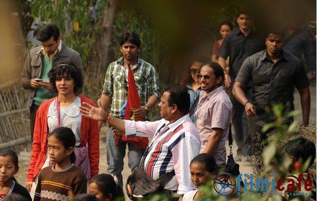 Ranbir Kapoor,Priyanka Chopra On The Set Of Barfi