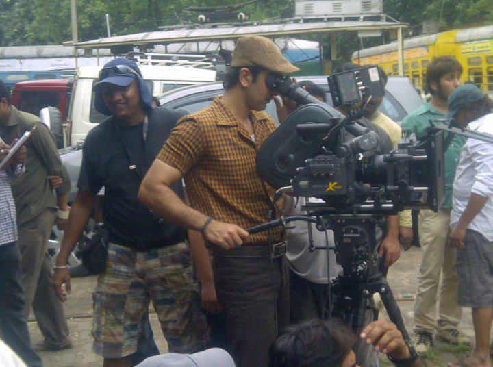 Ranbir Kapoor on Shooting Set Of Barfi Hindi Movie