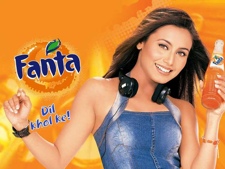 Rani Mukherjee Fanta Ad Wallpaper