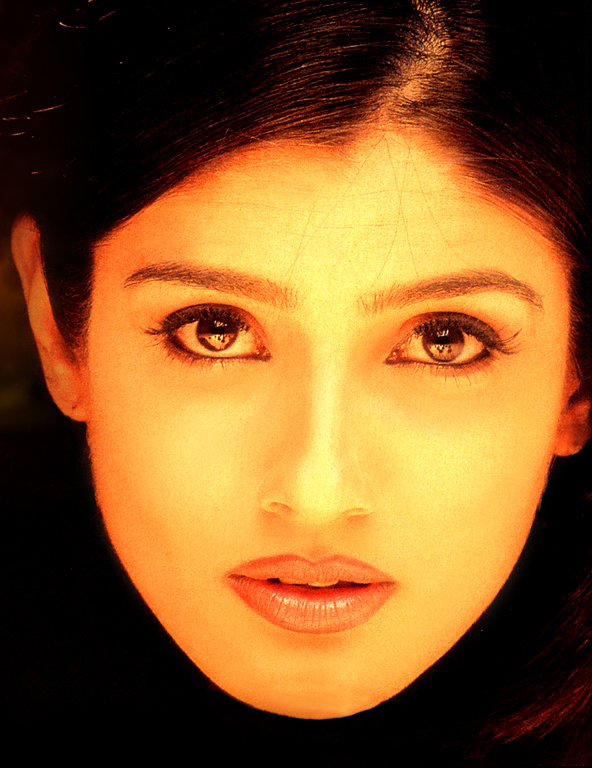 Raveena Tandon Sexy Eyes Wallpaper