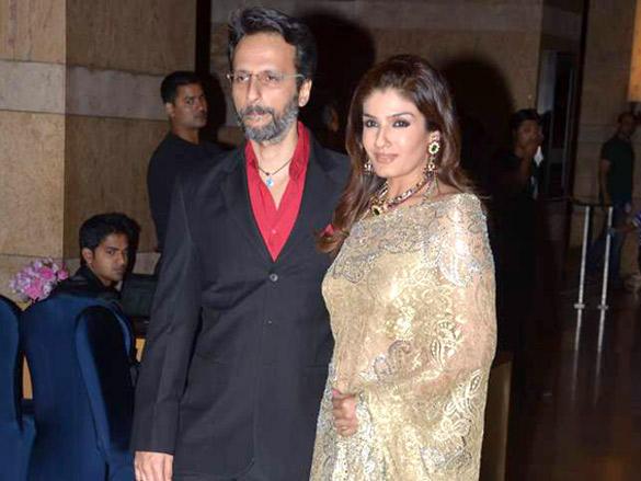 Raveena Tandon and Anil Thadani at sangeet ceremony