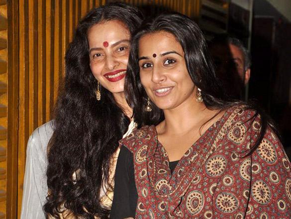Rekha,Vidya Balan Gorgeous Smile Pic