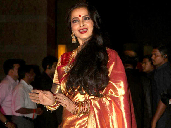 Rekha at Riteish and Genelia's reception