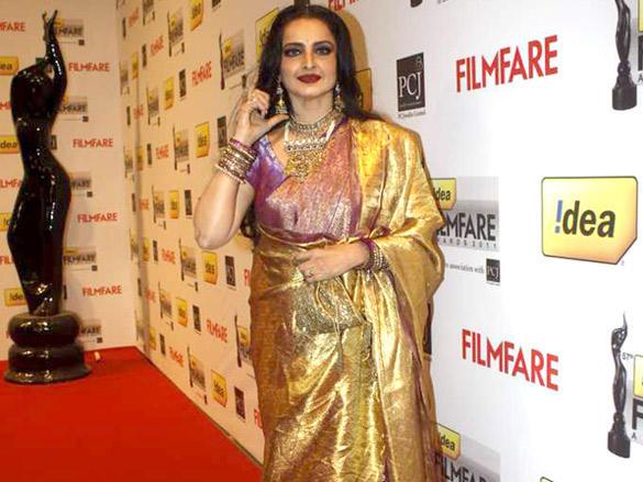 Rekha at the 57th Idea Filmfare Awards