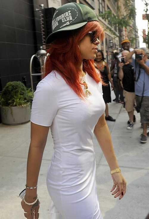 Rihanna Red Hair Cap Still