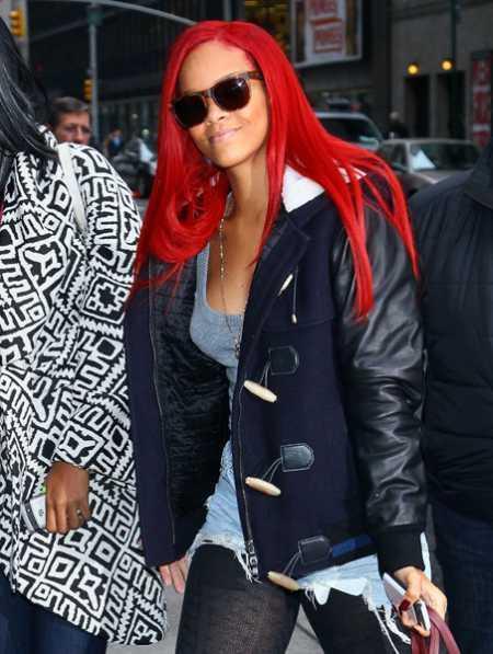 Rihanna Red Hair Pic