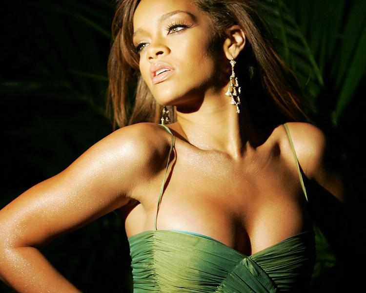 Rihanna Sexy Cleavages Glamour Still