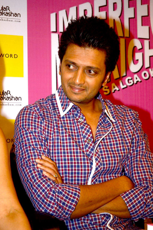 Riteish Deshmukh at The Launch Of Leela Shakti Salgaokars Book Imperfect Mr. Right