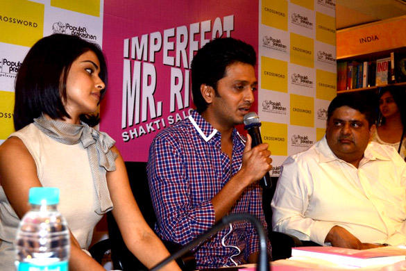 Riteish and Wife Genelia D'Souza at Launch of The Book Imperfect Mr. Right