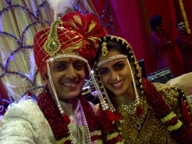 Ritesh Deshmukh and Genelia D'Souza Wedding pics