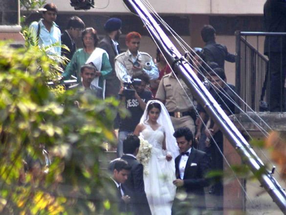 Ritesh Deshmukh and Genelia DSouza Church Wedding stills