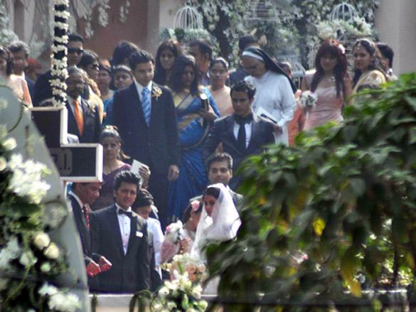 Ritesh and Genelia Church wedding stills