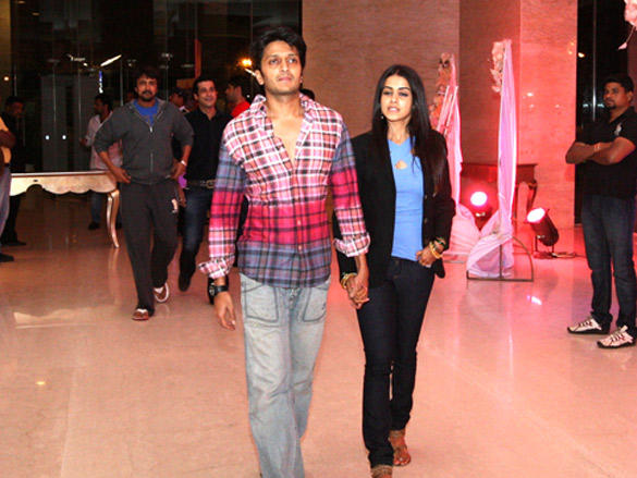 Ritesh with Genelia at Cricket League  party in Vizag