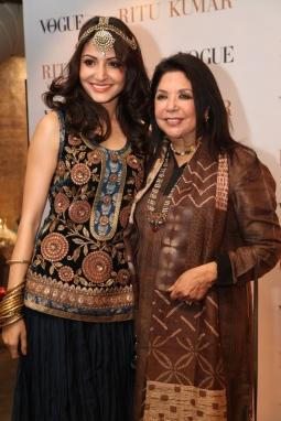 Ritu Kumar at  her New Flagship Store with Anushka Sharma
