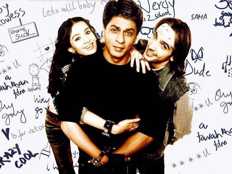 SRK,Zayed and Amrita In MHN Cute Wallpaper