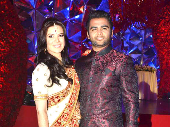 Sachin Joshi,Urvashi Sharma at thier Wedding reception