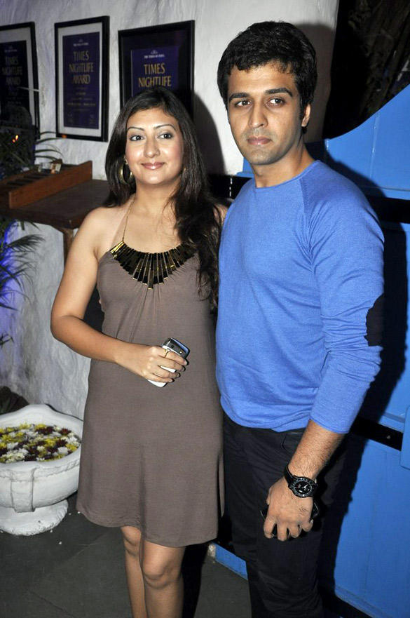 Sachin Shroff With Wife Juhi at UTV Stars Walk Of The Stars After Party Event