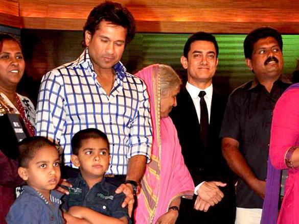 Sachin Tendulkar,Aamir Khan at CNN IBN Heroes Awards
