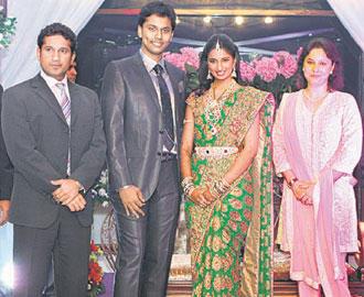 Sachin Tendulkar at Matrix Prasad Daughter Wedding Reception Function