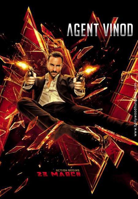 Saif Ali Khan Agent Vinod First Look Poster