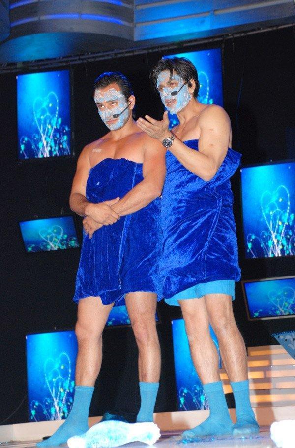 Saif Ali Khan Blue Towel Still