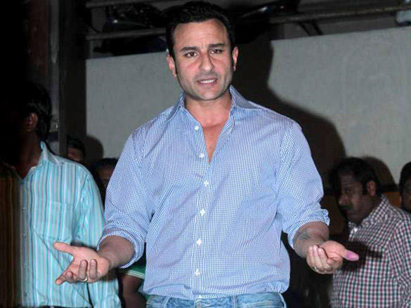 Saif Ali Khan Meets the Media to Clarify Controversy